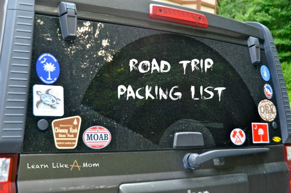 Road Trip Packing List - Learn Like A Mom! http://learnlikeamom.com/out-and-about/travel/road-trip-packing-list/ #roadtrip #packing #children #travel