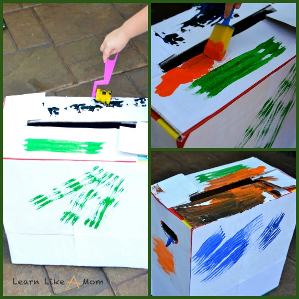 painting the school saver box