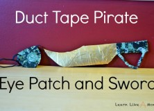 Duct Tape Pirate Eye Patch and Sword