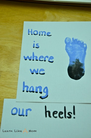 Painting Tar Heel Words - Learn Like A Mom!