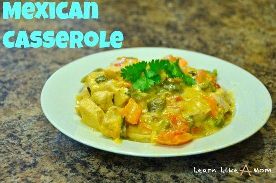 Mexican Casserole - Learn Like A Mom! http://learnlikeamom.com/recipes/mexican-casserole This recipe is very easy and full of flavor!