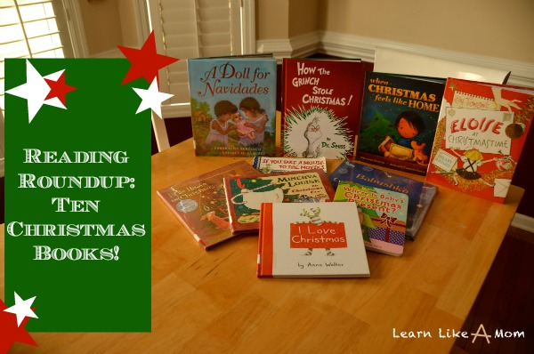 Ten Christmas Books from Learn Like A Mom on Mom Endeavors!
