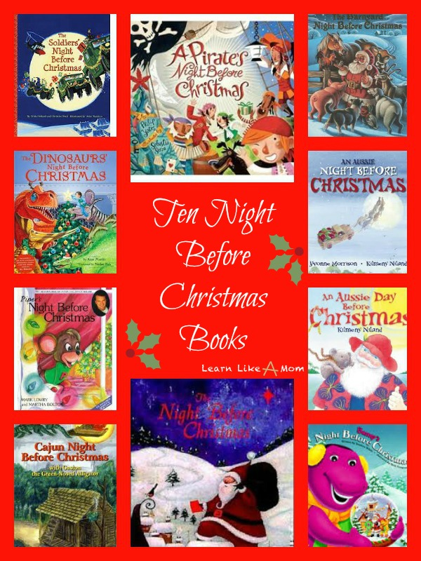 Ten Night Before Christmas Books from Learn Like A Mom! http://learnlikeamom.com/subjects/seasonal/reading-roundu…hristmas-books/ #books #childrensbooks #christmas