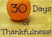Thirty Days of Thankfulness