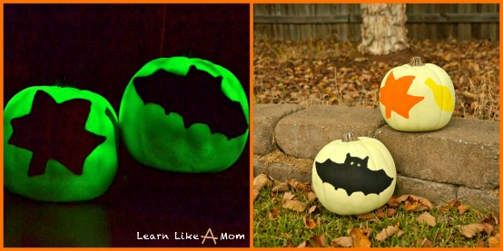 glow in the dark decorative pumpkins