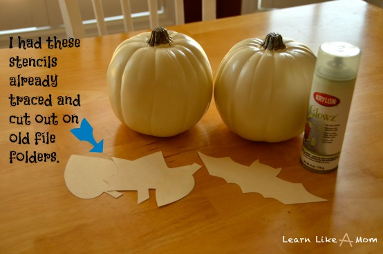 Pumpkins and stencils