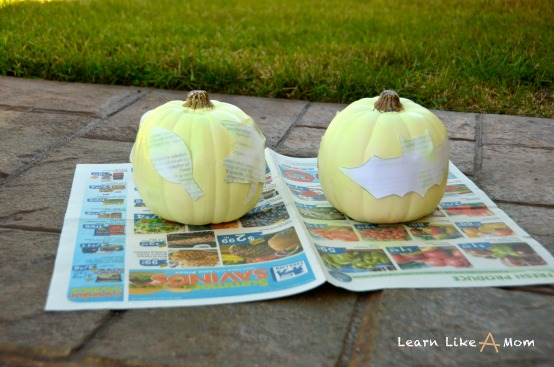 spray paint pumpkins