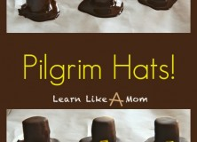 Banana and Chocolate Pilgrim Hats