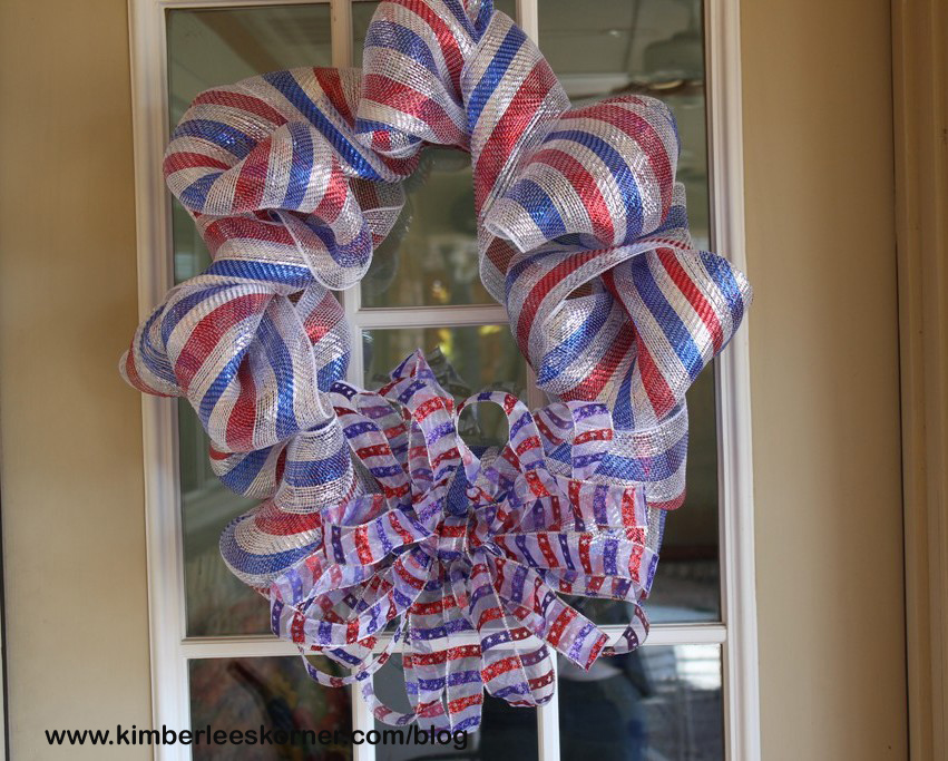 Kimberlee's Korner Olympic Wreath takes Gold at the Olympics, Oh Link Picks Medal Ceremony! http://kimberleeskorner.com/blog/2014/02/20/deco-mesh-olympic-wreath/ #olympics