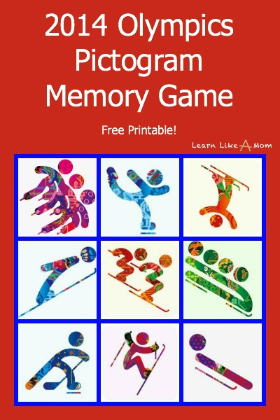 2014 Olympics Pictogram Memory Game - Learn Like A Mom! http://learnlikeamom.com/around-the-house/family-time/winter-olympics-activities/ #olympics #ece