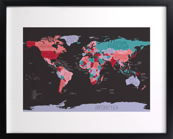 All The Countries of the World by Anita Kingsley - Learn Like A Mom!  http://learnlikeamom.com/creative-corner/decorating/personalize-life-minted/  #minted #homedecor