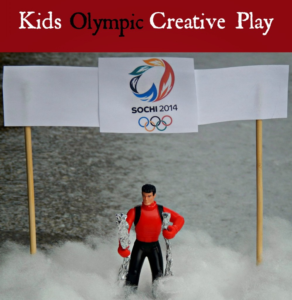 Kids Olympic Creative Play- This Ole Mom! http://learnlikeamom.com/around-the-house/family-time/winter-olympics-activities/ #olympics #ece