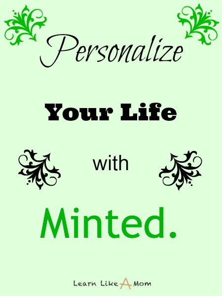 Personalize your life with Minted. - Learn Like A Mom! http://learnlikeamom.com/creative-corner/decorating/personalize-life-minted/  #minted #homedecor
