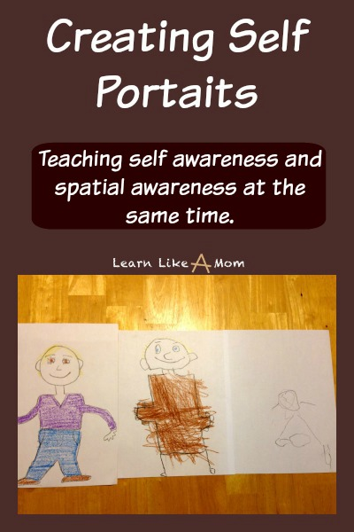 Creating Self Portraits from Learn Like A Mom! http://learnlikeamom.com/creating-self-portraits/ Self portraits help children learn spatial awareness and self awareness. This is a simple lesson plan for young children. #ece #selfportraits #selfawareness #spatialawareness #finemotorskills #learnlikeamom