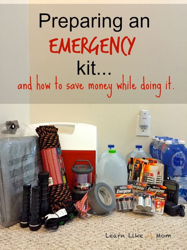 Make an Emergency Kit and save money while doing so! from Learn Like A Mom! http://learnlikeamom.com/hurricane-emergency-kit/ #hurricaneemergencykit #emergencykit #hurricanepreparedness #learnlikeamom